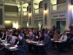 Participants in 2014 Energy Challenge listen to Mayor Sly James' remarks